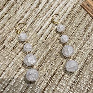 Cracked quartz earrings